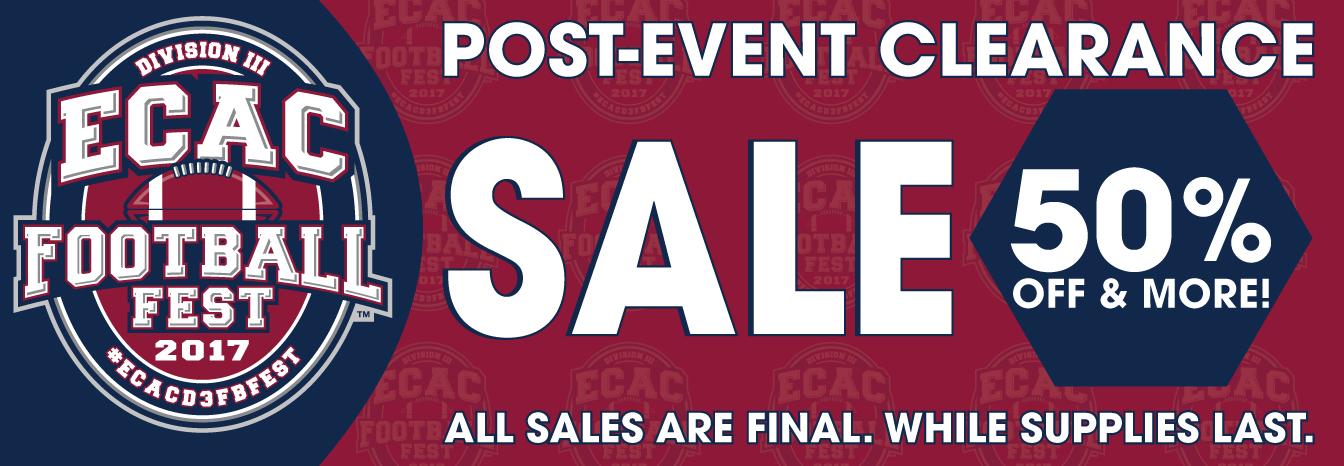 ECAC D3 Football Fest 2017 Clearance Sale